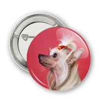 Chinese Crested Dog Button