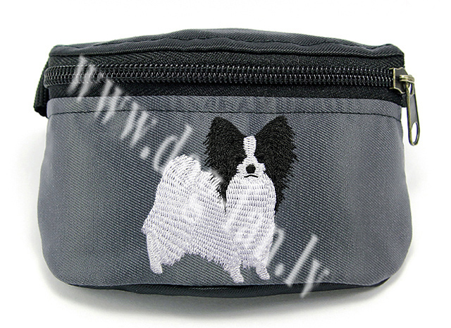 Embroidered Papillon Treat Bag/ Treat Pouch