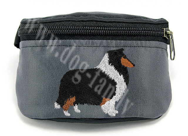Embroidered Collie Treat Pouch